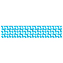 Friendly Houndstooth Pattern,aqua Flano Scarf (small)