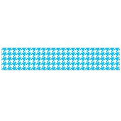 Friendly Houndstooth Pattern,aqua Flano Scarf (large)