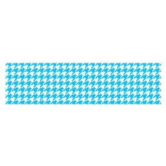 Friendly Houndstooth Pattern,aqua Satin Scarf (oblong)