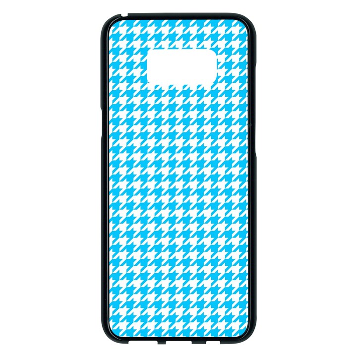 Friendly Houndstooth Pattern,aqua Samsung Galaxy S8 Plus Black Seamless Case