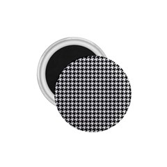 Friendly Houndstooth Pattern,black And White 1 75  Magnets