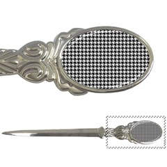 Friendly Houndstooth Pattern,black And White Letter Openers