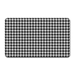 Friendly Houndstooth Pattern,black And White Magnet (rectangular)