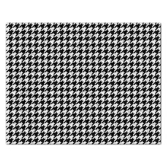 Friendly Houndstooth Pattern,black And White Rectangular Jigsaw Puzzl