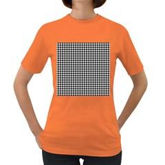 Friendly Houndstooth Pattern,black And White Women s Dark T Shirt