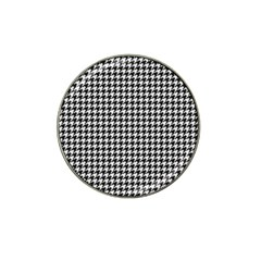 Friendly Houndstooth Pattern,black And White Hat Clip Ball Marker