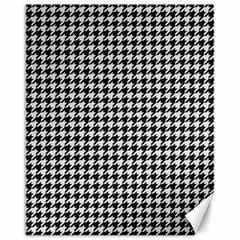 Friendly Houndstooth Pattern,black And White Canvas 16  X 20