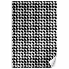 Friendly Houndstooth Pattern,black And White Canvas 20  X 30