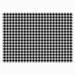 Friendly Houndstooth Pattern,black And White Large Glasses Cloth (2-Side) Back