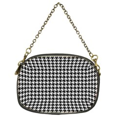 Friendly Houndstooth Pattern,black And White Chain Purses (one Side)