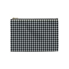 Friendly Houndstooth Pattern,black And White Cosmetic Bag (medium)