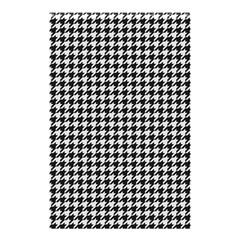 Friendly Houndstooth Pattern,black And White Shower Curtain 48  X 72  (small)