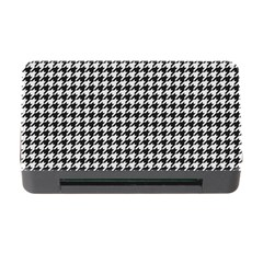 Friendly Houndstooth Pattern,black And White Memory Card Reader With Cf