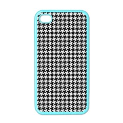 Friendly Houndstooth Pattern,black And White Apple Iphone 4 Case (color)