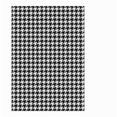 Friendly Houndstooth Pattern,black And White Small Garden Flag (two Sides)