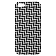 Friendly Houndstooth Pattern,black And White Apple Iphone 5 Hardshell Case