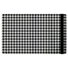 Friendly Houndstooth Pattern,black And White Apple Ipad 2 Flip Case