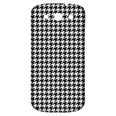 Friendly Houndstooth Pattern,black And White Samsung Galaxy S3 S Iii Classic Hardshell Back Case