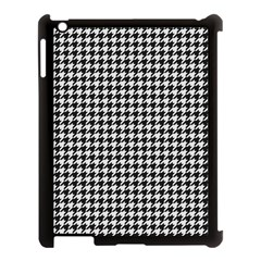 Friendly Houndstooth Pattern,black And White Apple Ipad 3/4 Case (black)