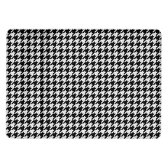 Friendly Houndstooth Pattern,black And White Samsung Galaxy Tab 10 1  P7500 Flip Case