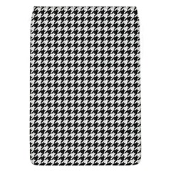 Friendly Houndstooth Pattern,black And White Flap Covers (l)