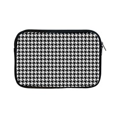 Friendly Houndstooth Pattern,black And White Apple Ipad Mini Zipper Cases
