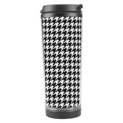 Friendly Houndstooth Pattern,black And White Travel Tumbler