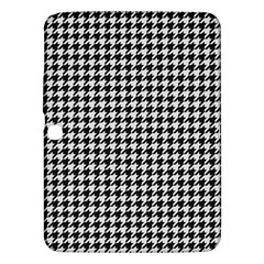 Friendly Houndstooth Pattern,black And White Samsung Galaxy Tab 3 (10 1 ) P5200 Hardshell Case