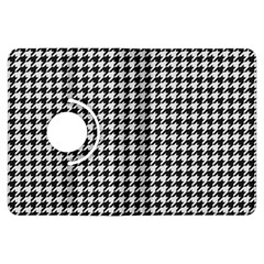 Friendly Houndstooth Pattern,black And White Kindle Fire Hdx Flip 360 Case