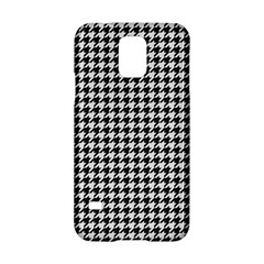 Friendly Houndstooth Pattern,black And White Samsung Galaxy S5 Hardshell Case