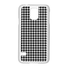 Friendly Houndstooth Pattern,black And White Samsung Galaxy S5 Case (white)