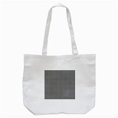 Friendly Houndstooth Pattern,black And White Tote Bag (white)