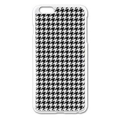 Friendly Houndstooth Pattern,black And White Apple Iphone 6 Plus/6s Plus Enamel White Case