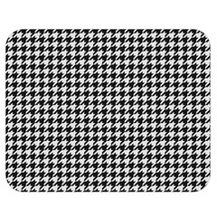 Friendly Houndstooth Pattern,black And White Double Sided Flano Blanket (medium)