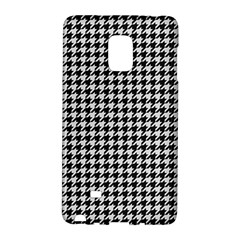 Friendly Houndstooth Pattern,black And White Galaxy Note Edge