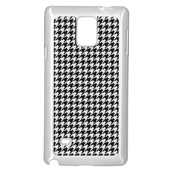 Friendly Houndstooth Pattern,black And White Samsung Galaxy Note 4 Case (white)