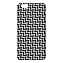 Friendly Houndstooth Pattern,black And White Iphone 6 Plus/6s Plus Tpu Case
