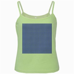 Friendly Houndstooth Pattern,blue Green Spaghetti Tank
