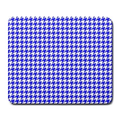 Friendly Houndstooth Pattern,blue Large Mousepads