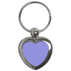 Friendly Houndstooth Pattern,blue Key Chains (heart)