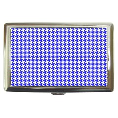Friendly Houndstooth Pattern,blue Cigarette Money Cases
