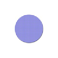 Friendly Houndstooth Pattern,blue Golf Ball Marker
