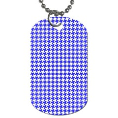 Friendly Houndstooth Pattern,blue Dog Tag (two Sides)