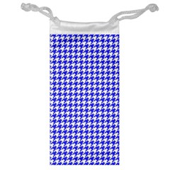 Friendly Houndstooth Pattern,blue Jewelry Bag