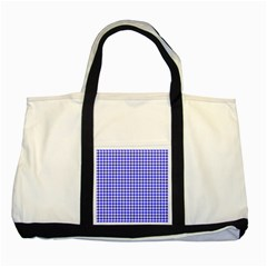 Friendly Houndstooth Pattern,blue Two Tone Tote Bag
