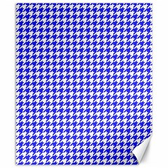 Friendly Houndstooth Pattern,blue Canvas 8  X 10