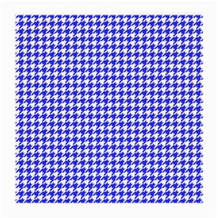 Friendly Houndstooth Pattern,blue Medium Glasses Cloth