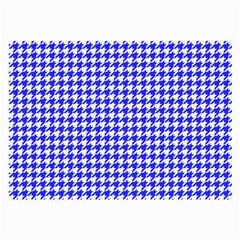 Friendly Houndstooth Pattern,blue Large Glasses Cloth (2 Side)