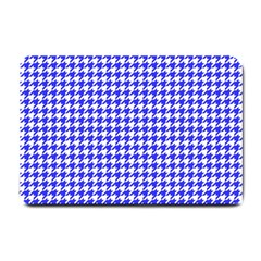 Friendly Houndstooth Pattern,blue Small Doormat