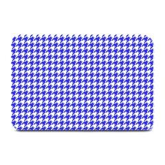 Friendly Houndstooth Pattern,blue Plate Mats